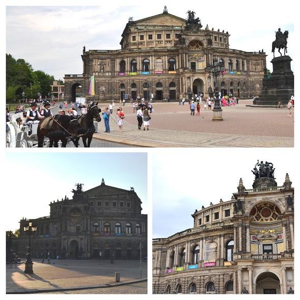Semperova opera na Divadelním náměstí (Theaterplatz)