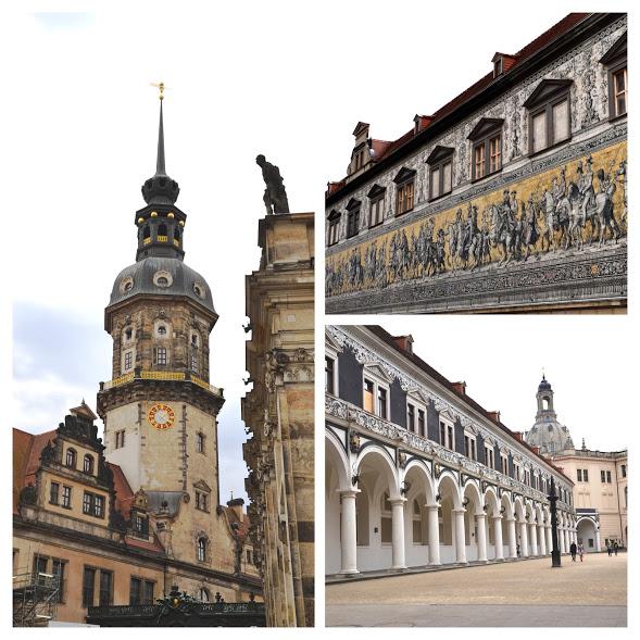 Drážďanský zámek, Procesí princů a jízdárna Stallhof.